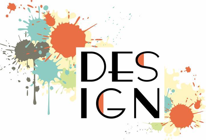 Plantilla de diseño de folleto de negocios con salpicaduras de color vector
