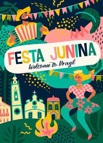 Latin American holiday, the June party of Brazil. Festa Junina.