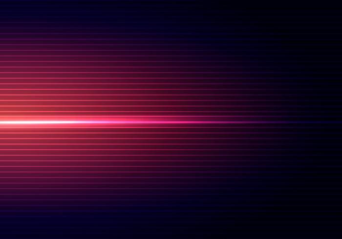 Abstrakt mörkblå bakgrund med horisontellt rött ljus och linjer mönster skugga tapet.