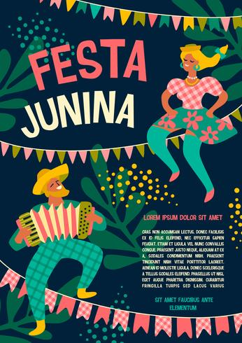Feriado da América Latina, a festa junina do Brasil. Festa Junina.