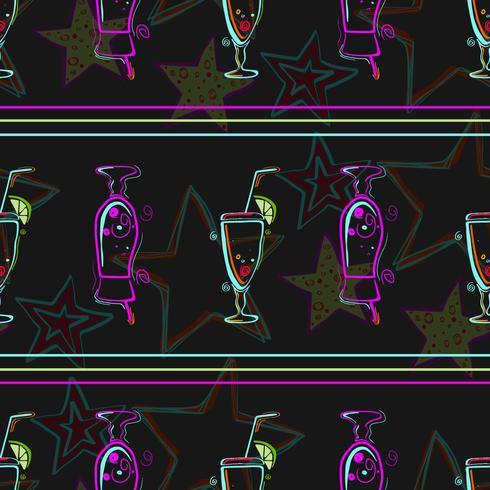 Modèle sans couture avec des cocktails. vecteur