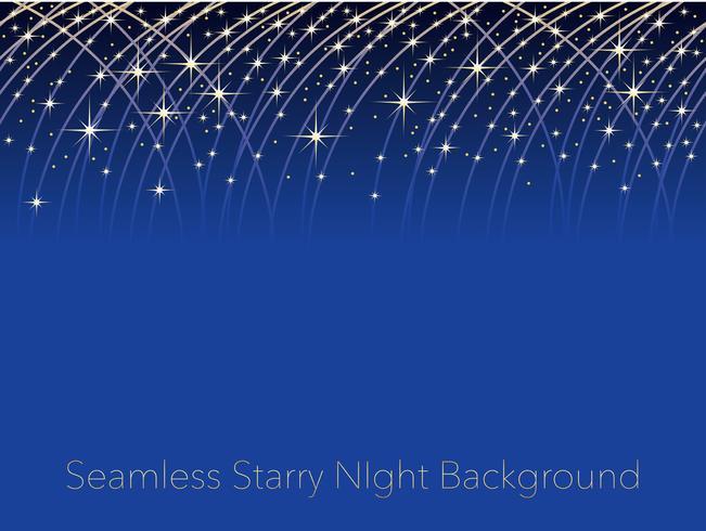 Nahtloser sternenklarer Hintergrund des nächtlichen Himmels mit Streifen von Sternschnuppen.