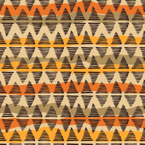 Tribal ethnic seamless pattern with geometric elements