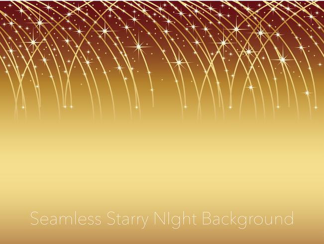 Nahtlose sternenklare Hintergrundillustration des nächtlichen Himmels mit Streifen von Sternschnuppen. vektor