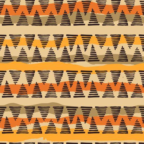 Tribal sin patrón étnico con elementos geométricos vector