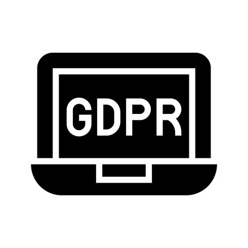 GDPR Allmänna dataskyddsförordning ikonen, solid stil
