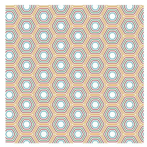 Gul hexagonal mönsterdesign