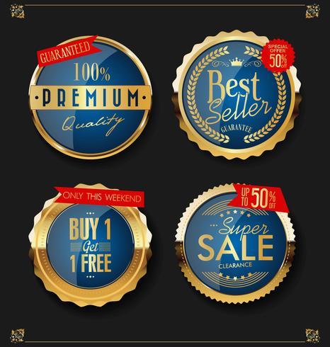 Distintivi ed etichette d'oro di lusso premium