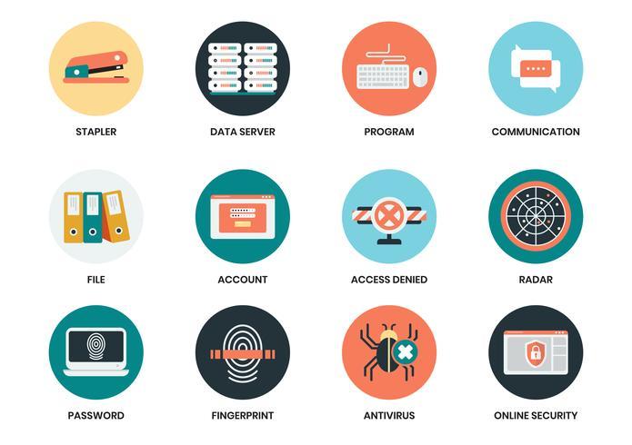 Icônes d'affaires définies pour l'affiche de l'entreprise vecteur