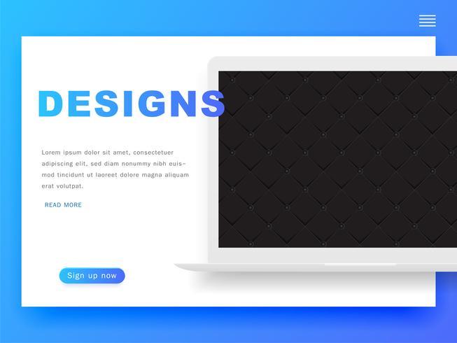 Website Design Template headers and interface elements. Header Design.