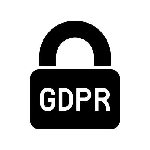 GDPR General Data Protection Regulation-Symbol, solider Stil