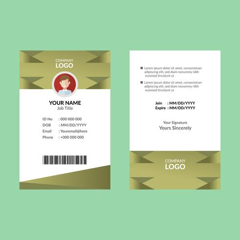 Olive ID Card Template
