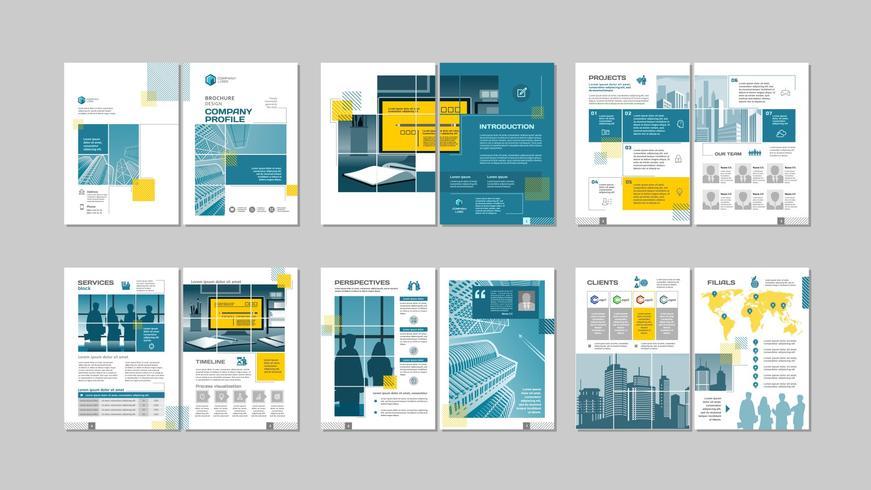 Design criativo de brochura. vetor