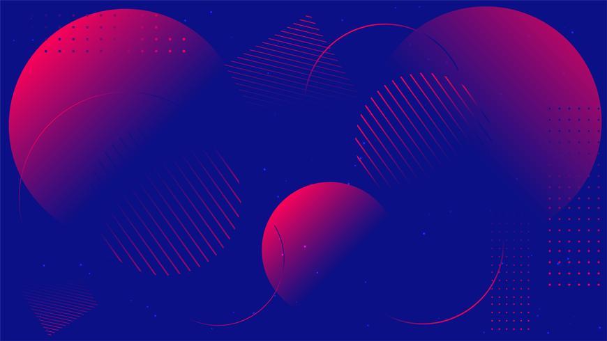 Minimale geometrische Trendy gradiëntvormen samenstelling. achtergrond vectorillustratie.