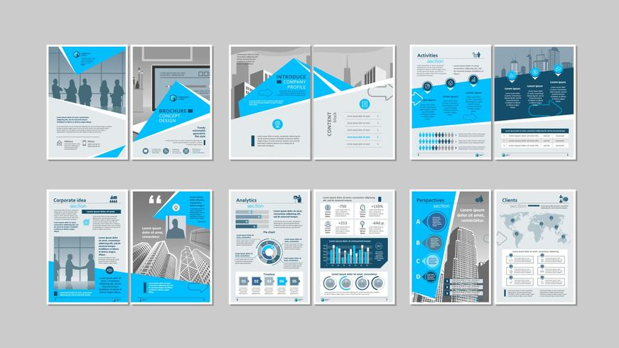 Broschyr kreativ design. vektor
