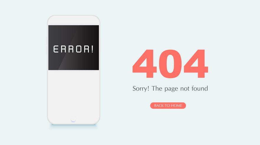 Concepto de página de error 404 no encontrado en fondo blanco para sitios en construcción.