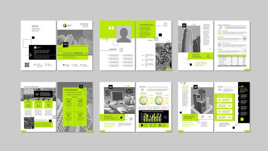 Design criativo de brochura.