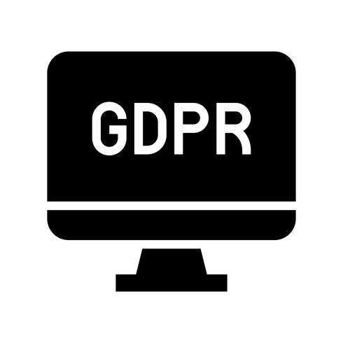 GDPR General Data Protection Regulation icon, solid style