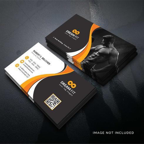 Orange elegant företags kort
