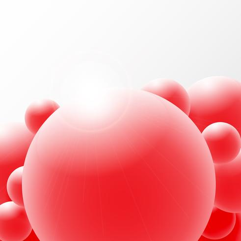 Abstract 3D Sphere design. 3d molecules concept, Atoms. on white background.