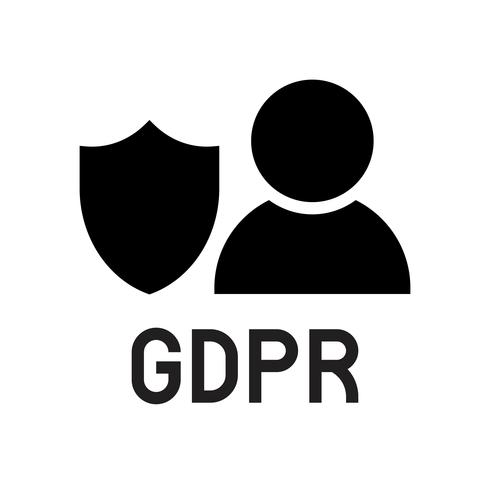 Icona di GDPR General Data Protection Regulation, stile solido