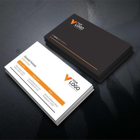 Carta aziendale elegante arancione