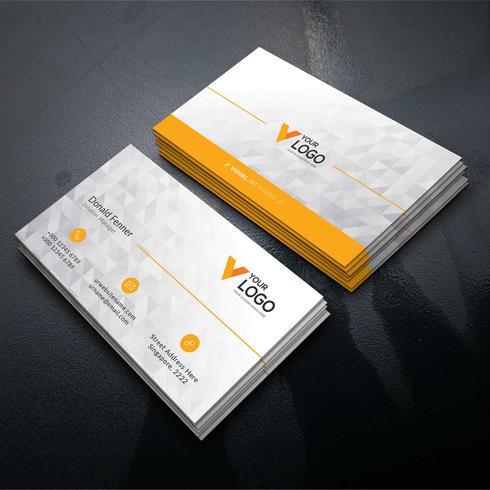 Carte d'entreprise élégante orange
