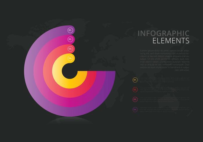 3D Infographic-elementen vector
