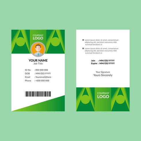 Grön ID-kortmall