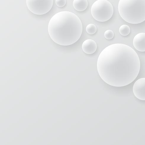 Abstraktes Design der Kugel 3D. Konzept der Moleküle 3d, Atome. auf weißem hintergrund.