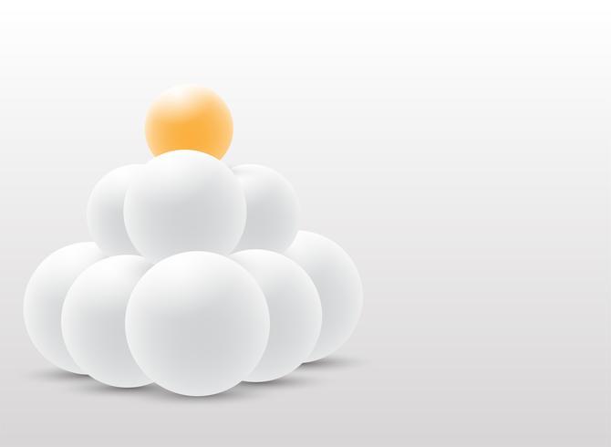 Abstraktes Design der Kugel 3D auf weißem Hintergrund.