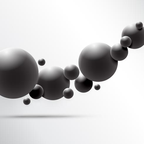 Abstract 3D Sphere-ontwerp. 3d moleculesconcept, Atomen. op witte achtergrond