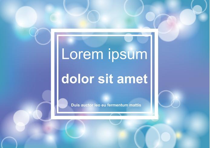 Bokeh astratto blu e sfondo chiaro disegno vettoriale