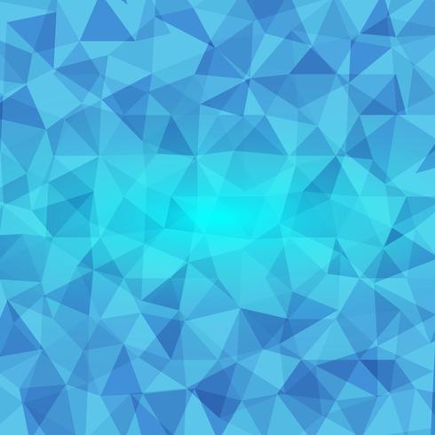 fundo abstrato poligonal em tons de azuis