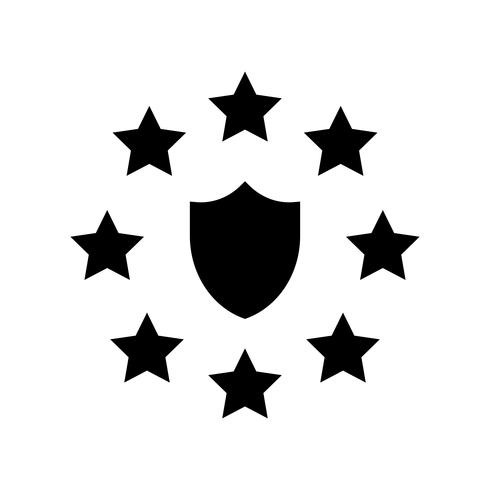 GDPR General Data Protection Regulation icon, solide stijl
