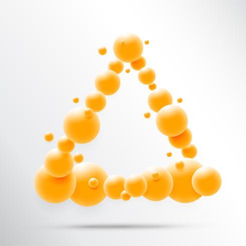 Abstrakt 3D-sfärdesign. 3d molekyler koncept, Atomer. på vit bakgrund.