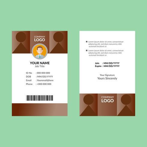Bruin ID-kaartsjabloon