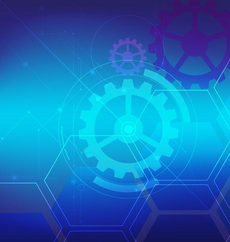 abstrakte digitale Technologie mit blauem Technologiehintergrund-Vektordesign