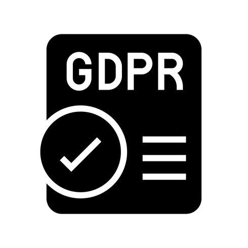 Ícone de Regulação Geral de Proteção de Dados GDPR, estilo sólido vetor