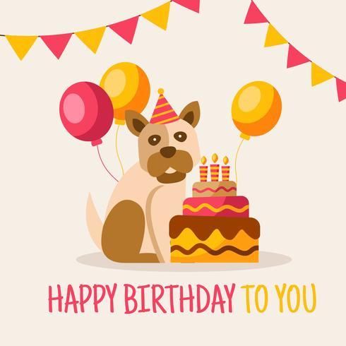 Vecteur de carte de joyeux anniversaire