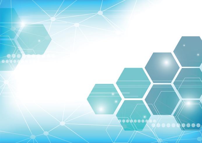 abstrakt teknik bakgrund med hexagoner
