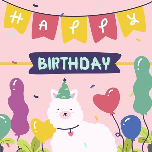 Feliz aniversário animal vector