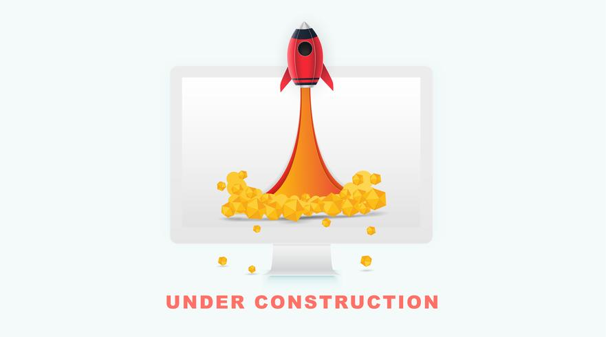 Page Under construction concept in white background for sites under constructions.  vector