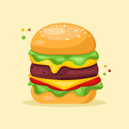 Burger Summer food Vector