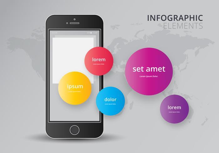Elementos de infografía 3D