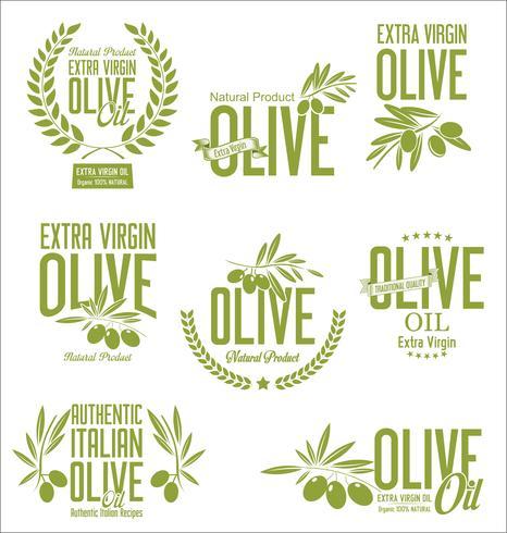 Retro- Aufklebersammlung des Olivenöls
