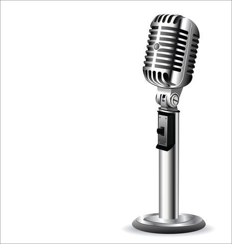 Retro Vintage Mikrofon Design Hintergrund vektor