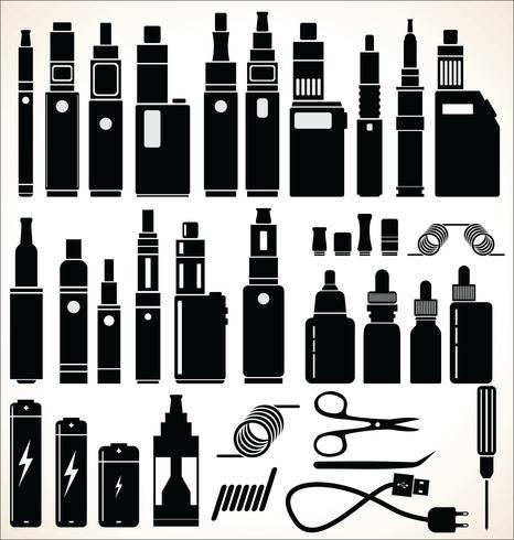 Elementi per la raccolta di sigarette elettroniche da barra di vapore e vaporizzatore vettore