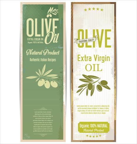 Retro- Weinlesehintergrundsammlung des Olivenöls