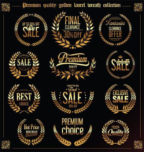Premium kvalitet och försäljning laurel krans samling vektor